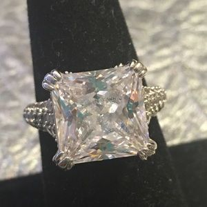 JAY KING CZ & Sterling Silver Solitaire Ring,  8